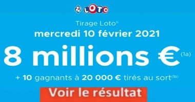 Resultat LOTO 10 Février 2021 Joker+ et codes loto gagnant