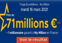 Resultat Euromillion 16 Mars 2021