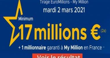 Resultat Euromillion 2 Mars 2021