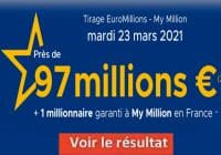 Resultat Euromillion 23 Mars 2021
