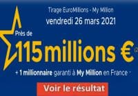 Resultat Euromillion 26 Mars 2021