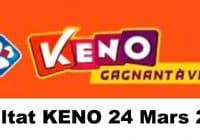 Resultat KENO 24 Mars 2021 tirage midi et soir