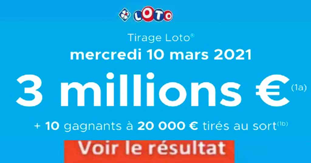 Resultat LOTO 10 Mars 2021 joker+ et codes loto gagnant