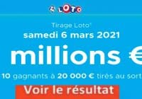 Resultat LOTO 6 Mars 2021 joker+ et codes loto gagnant