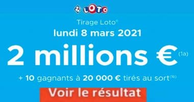 Resultat LOTO 8 Mars 2021 joker+ et codes loto gagnant