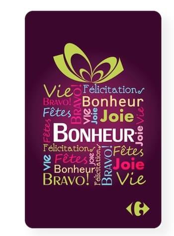 Carte Cadeau Carrefour promo