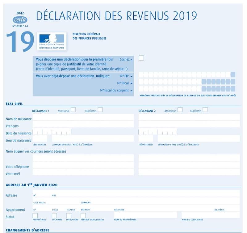 Déclaration revenus 2021