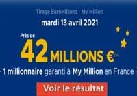 Resultat Euromillion 13 avril 2021
