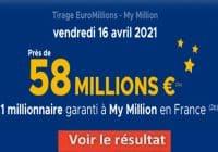 Resultat Euromillion 16 avril 2021