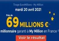 Resultat Euromillion 20 avril 2021