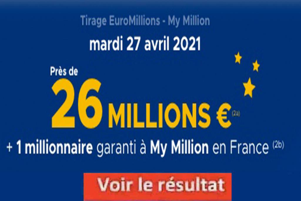 Resultat Euromillion 27 avril 2021