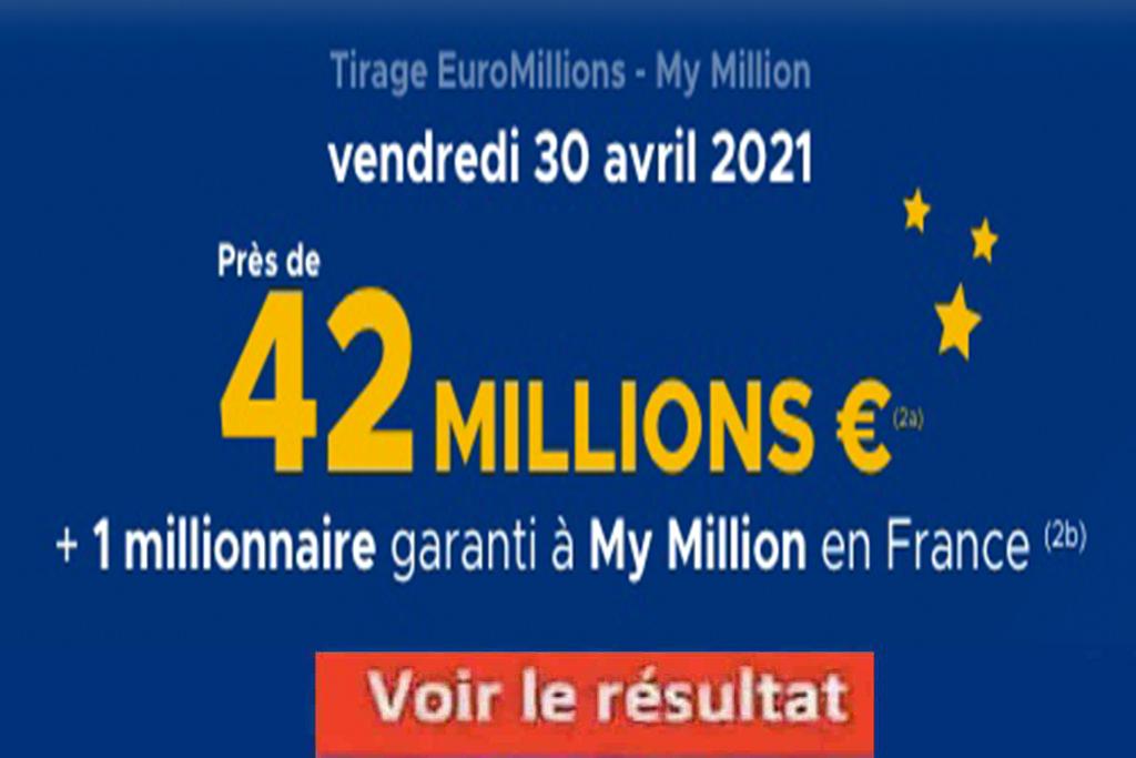 Resultat Euromillion 30 avril 2021