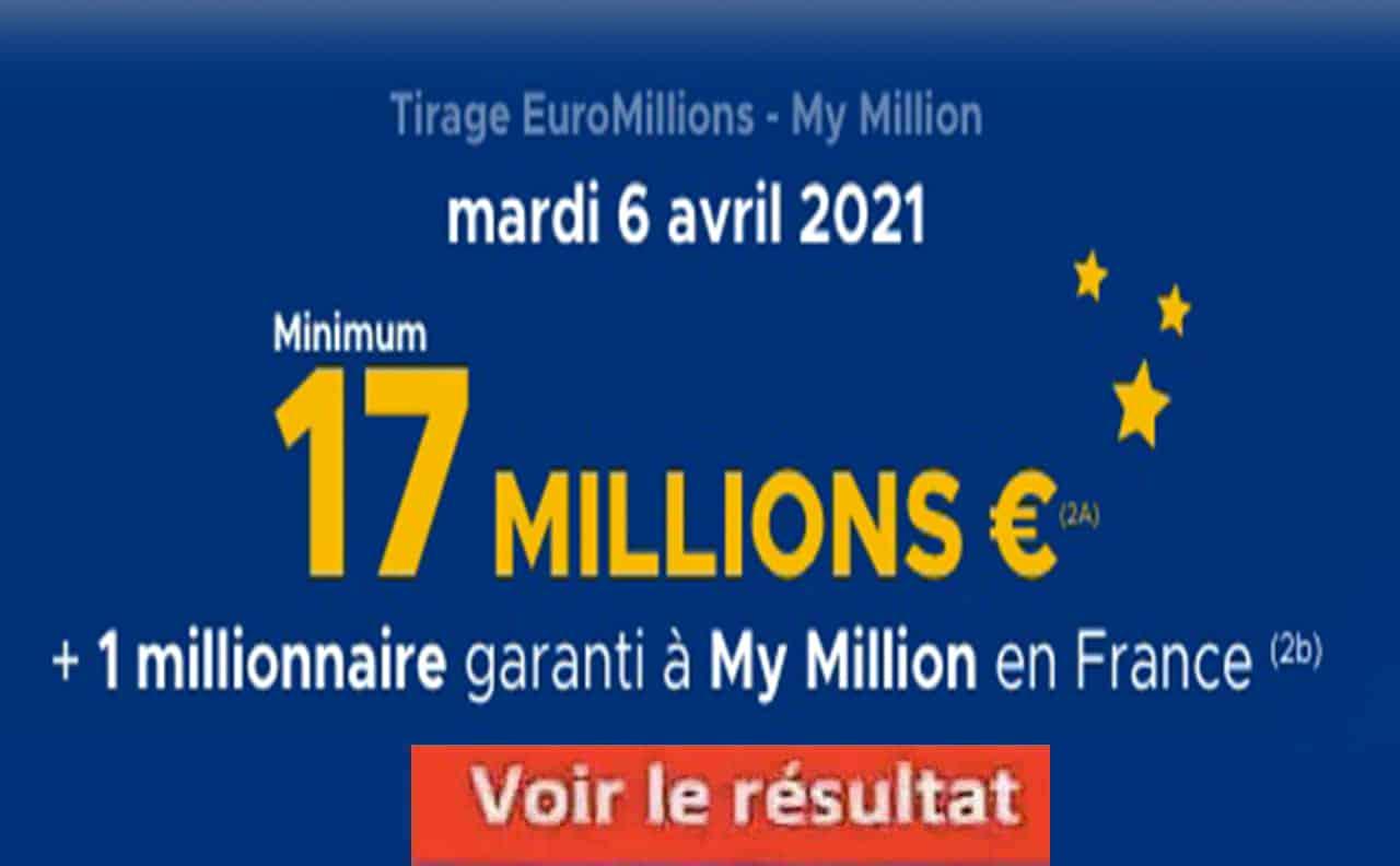 Resultat Euromillion 6 avril 2021