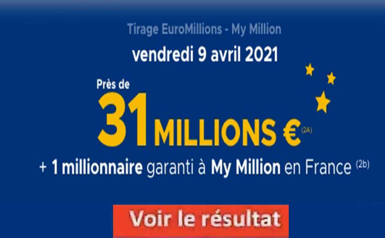 Resultat Euromillion 9 avril 2021