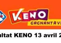 Résultat KENO 13 avril 2021 tirage midi et soir