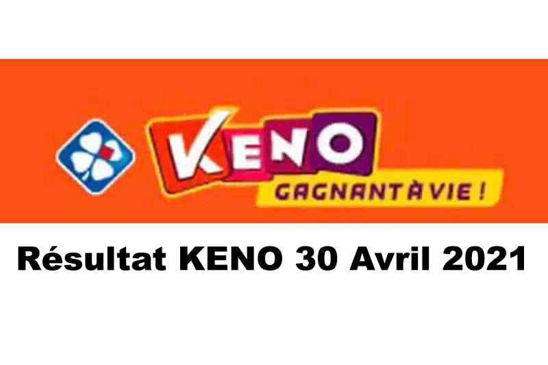 Résultat KENO 30 avril 2021 tirage FDJ midi et soir