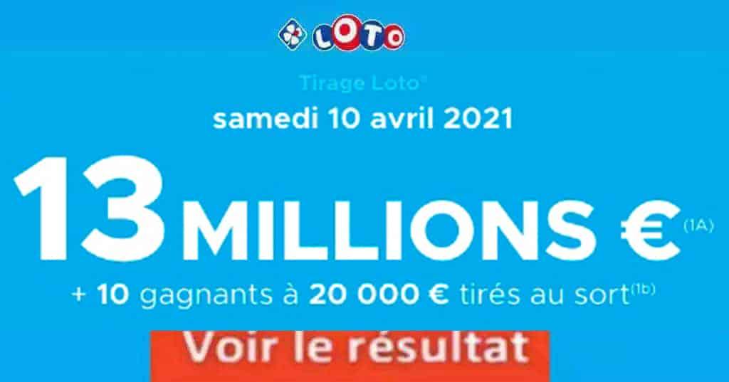 Resultat LOTO 10 avril 2021 joker+ et codes loto gagnant