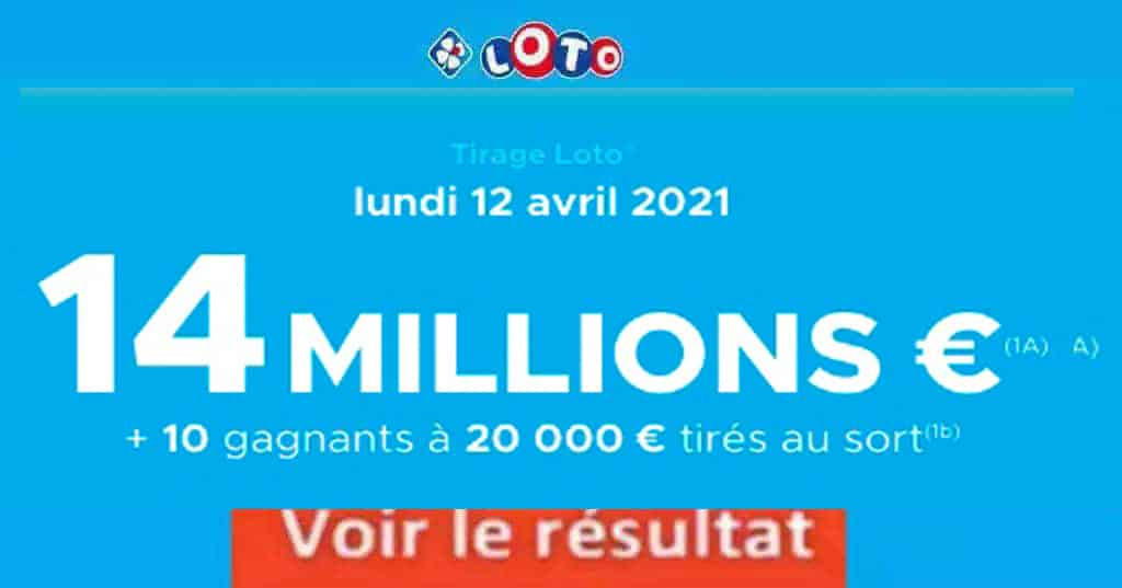 Resultat LOTO 12 avril 2021 joker+ et codes loto gagnant