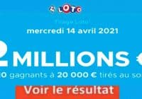 Resultat LOTO 14 avril 2021 joker+ et codes loto gagnant