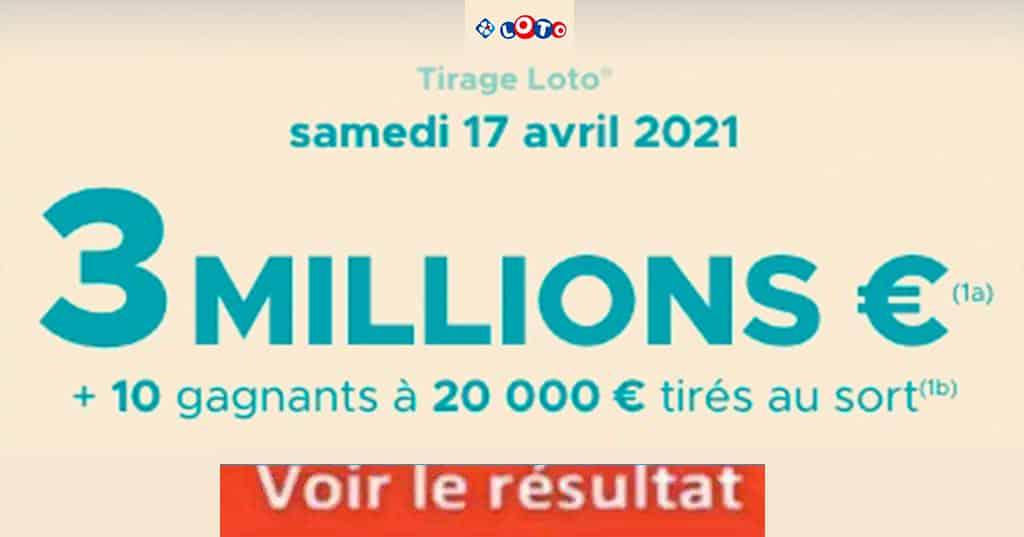 Resultat LOTO 17 avril 2021
