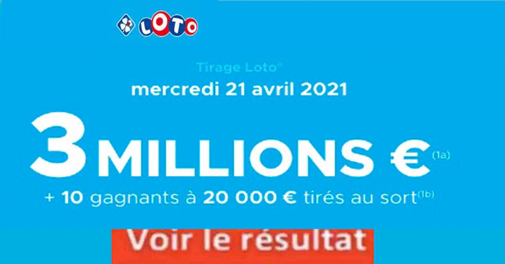 Resultat LOTO 21 avril 2021 joker+ et codes loto gagnant