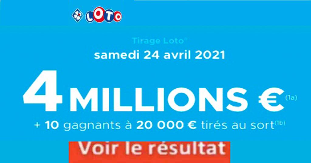 Resultat LOTO 24 avril 2021 joker+ et codes loto gagnant