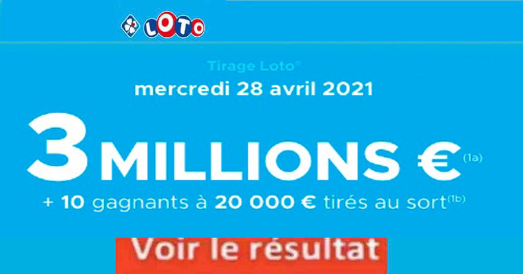 Resultat LOTO 26 avril 2021 joker+ et codes loto gagnant