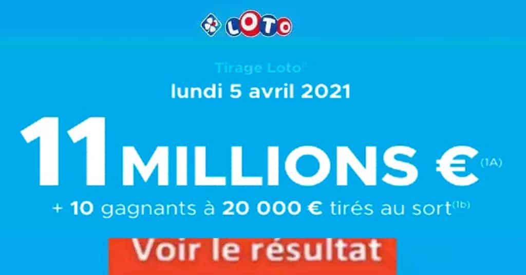 Resultat LOTO 5 avril 2021 joker+ et codes loto gagnant