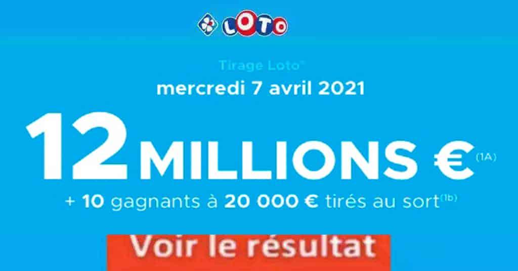 Resultat LOTO 7 avril 2021 joker+ et codes loto gagnant