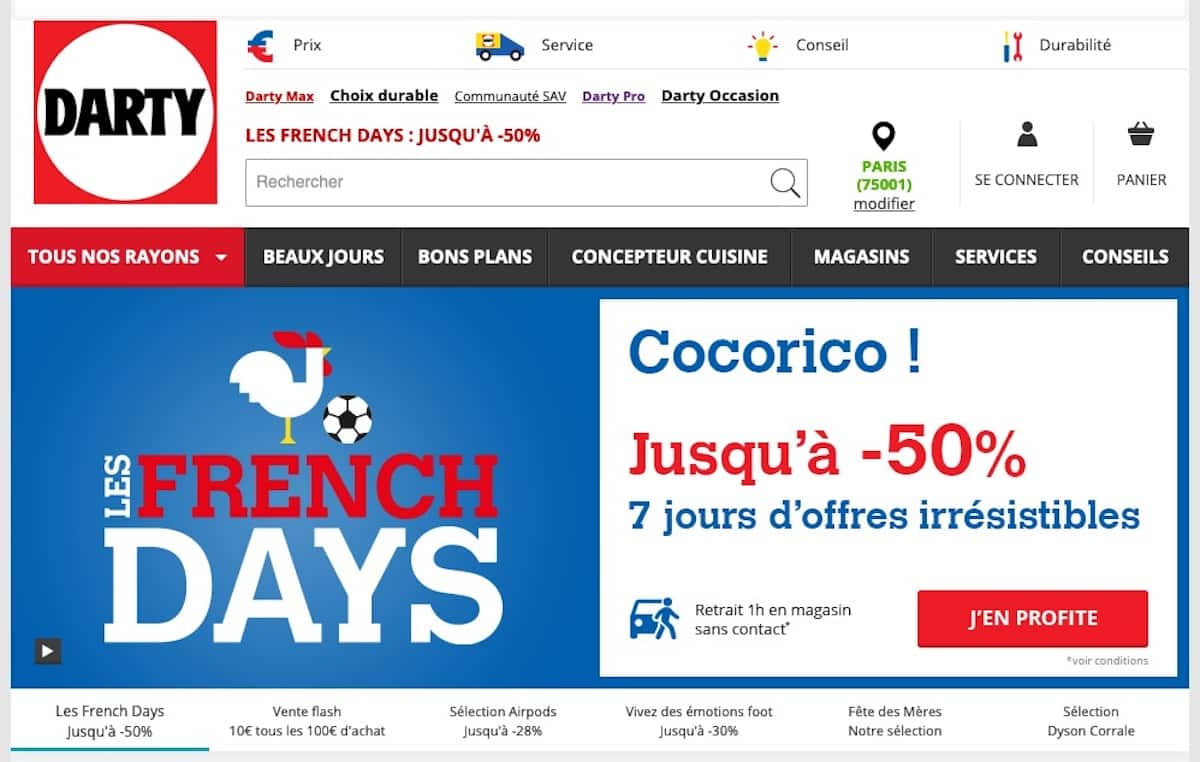 Code promo Darty French Days