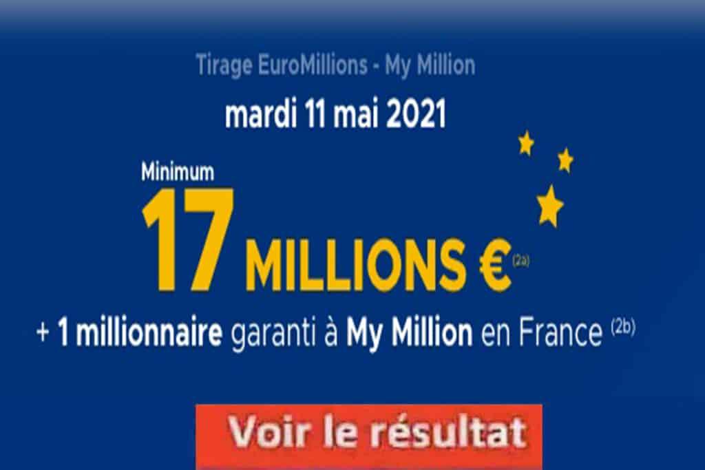 Resultat Euromillions 11 mai 2021