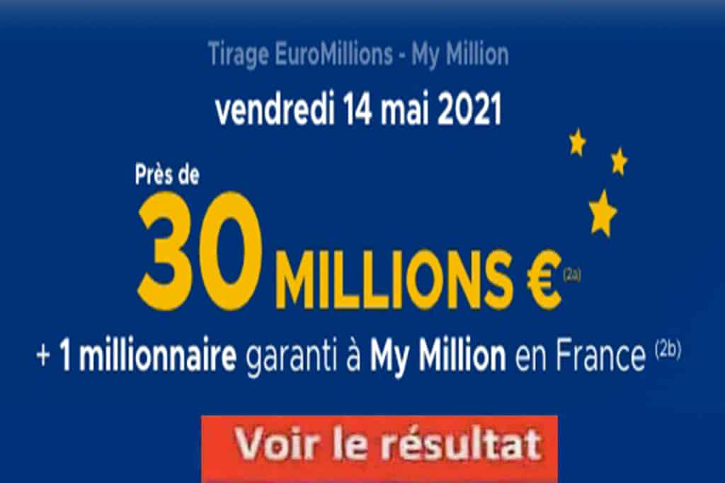 Resultat Euromillions 14 mai 2021