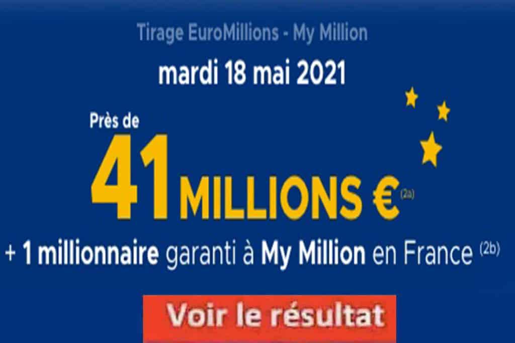 Resultat Euromillions 18 mai 2021