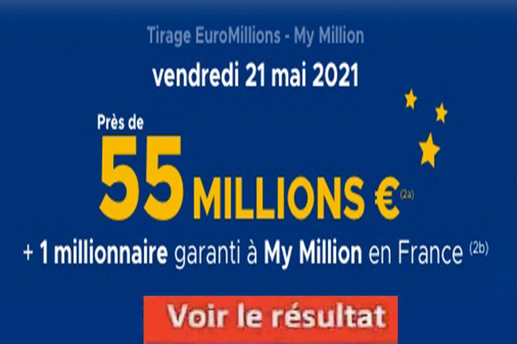 Resultat Euromillions 21 mai 2021