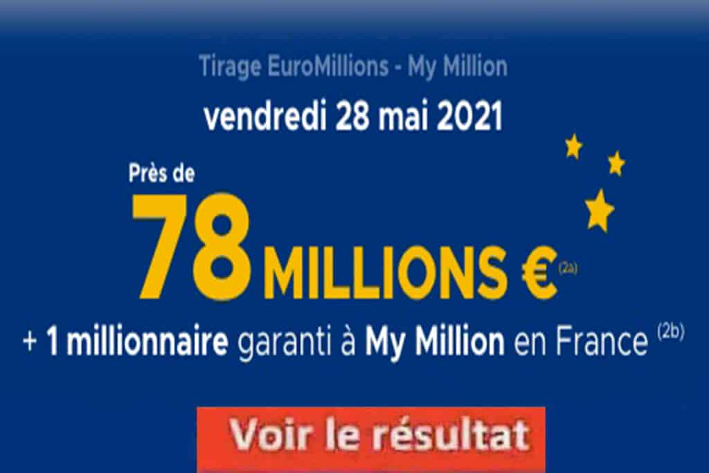 Resultat Euromillion 28 mai 2021