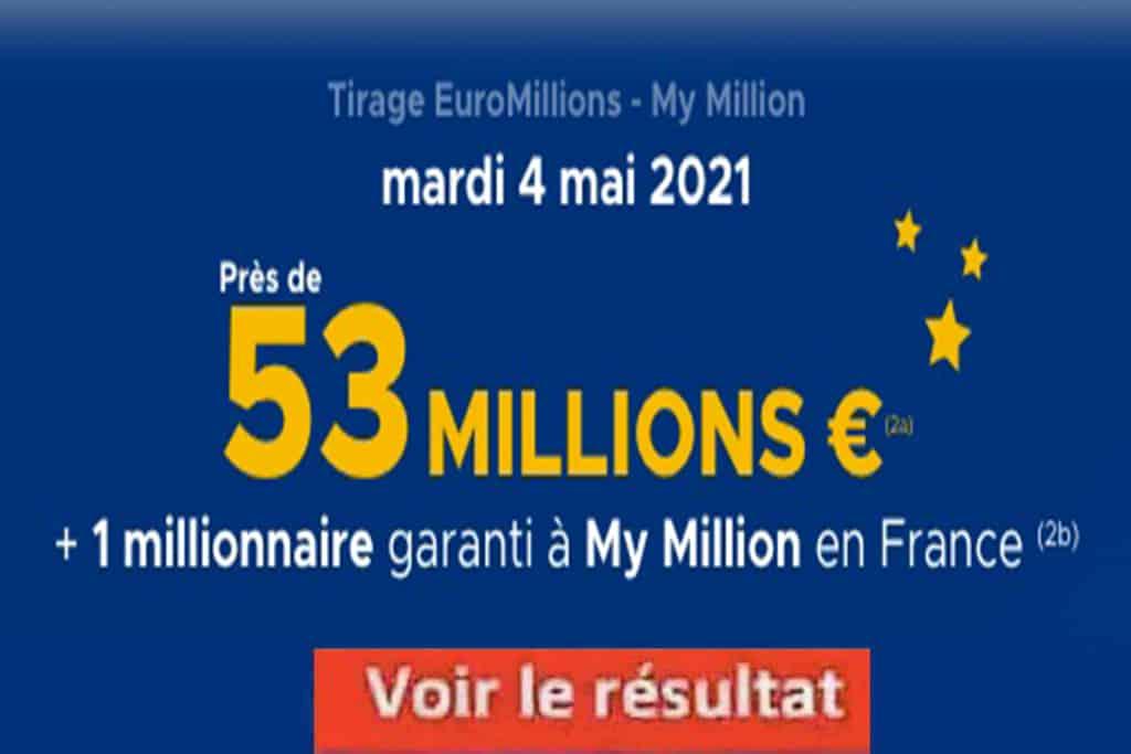 Resultat Euromillion 4 mai 2021