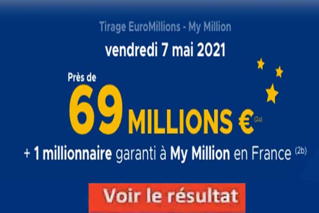 Resultat Euromillions 7 mai 2021