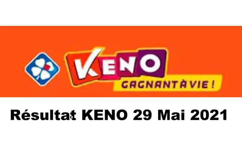 Resultat KENO 29 mai 2021 tirage midi et soir