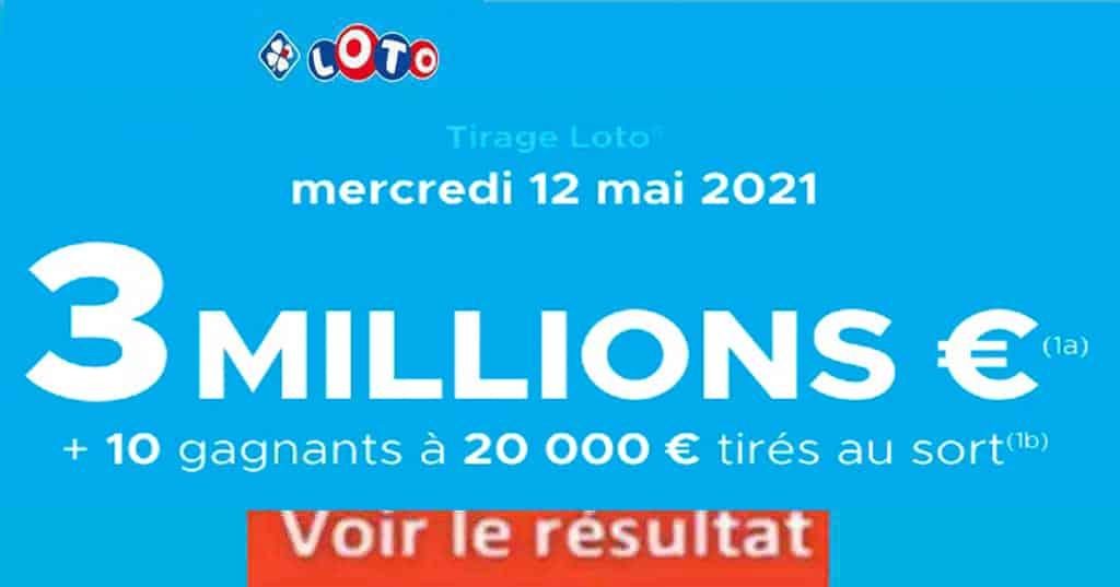 Resultat LOTO 12 mai 2021 joker+ et codes loto gagnant