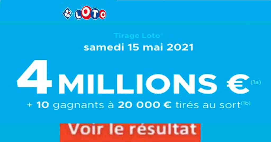 Resultat LOTO 15 mai 2021 joker+ et codes loto gagnant