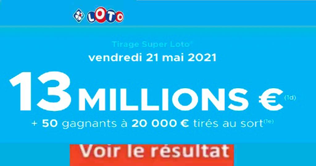 Resultat LOTO 21 mai 2021 joker+ et codes loto gagnant
