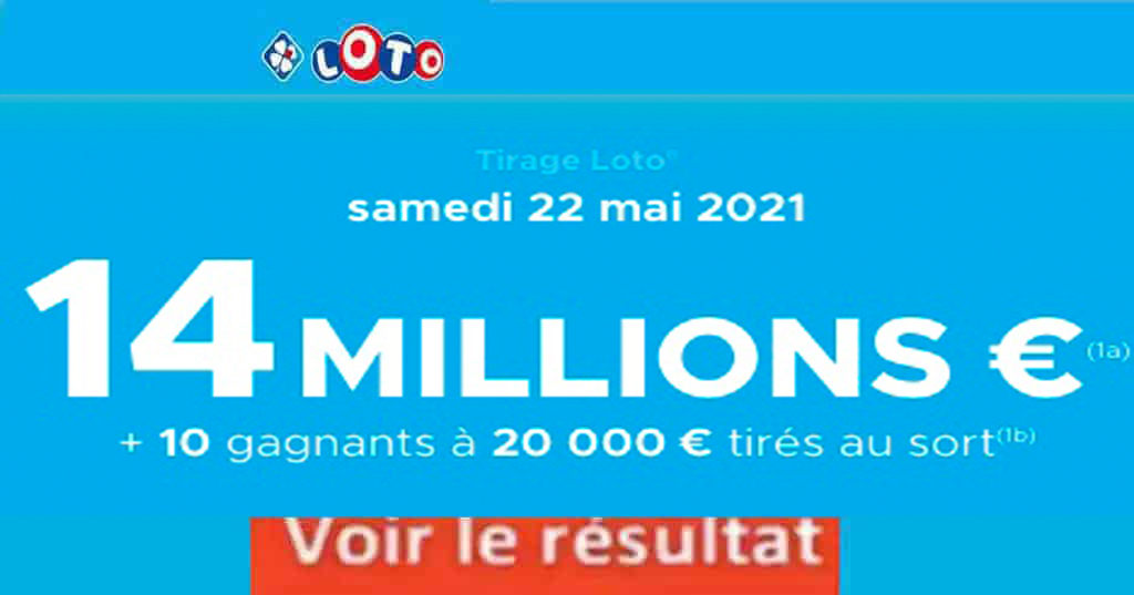 Resultat LOTO 22 mai 2021 joker+ et codes loto gagnant