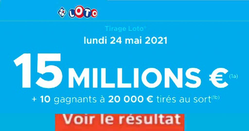 Resultat LOTO 24 mai 2021 joker+ et codes loto gagnant