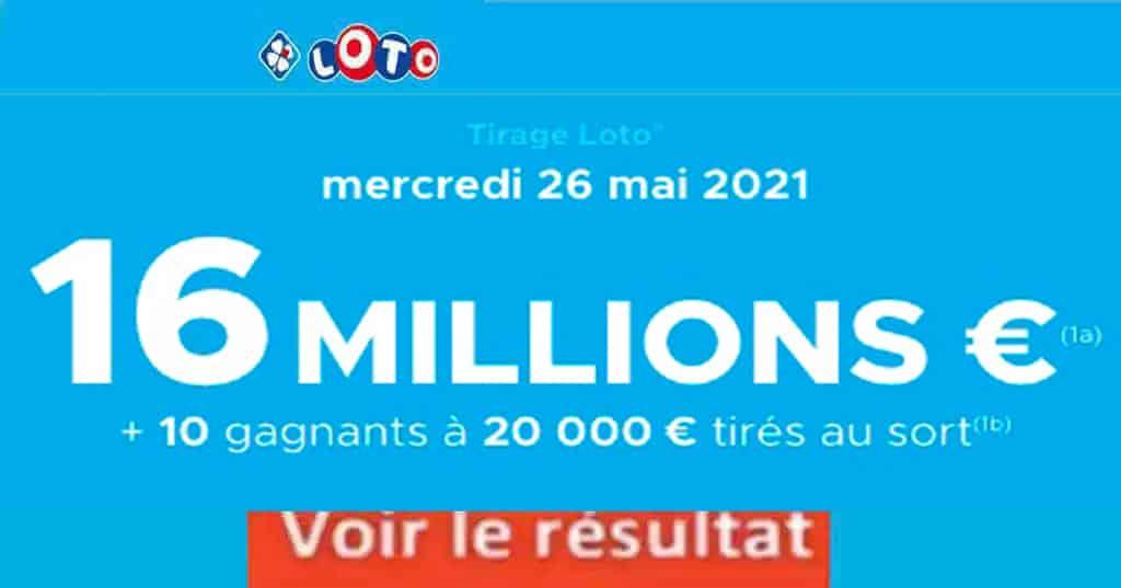 Resultat LOTO 26 mai 2021 joker+ et codes loto gagnant