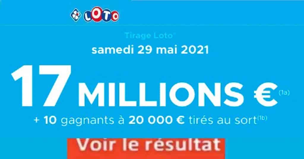 Resultat LOTO 29 mai 2021 joker+ et codes loto gagnant