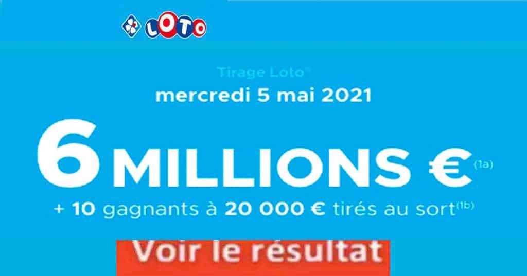 Resultat LOTO 5 Mai 2021 joker+ et gains loto