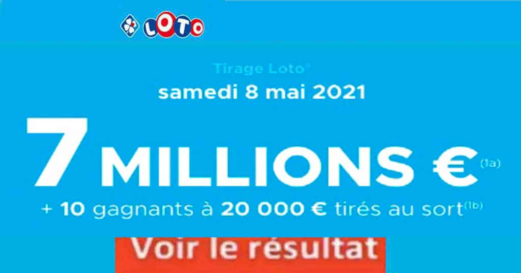 Resultat LOTO 8 mai 2021 joker+ et codes loto gagnant