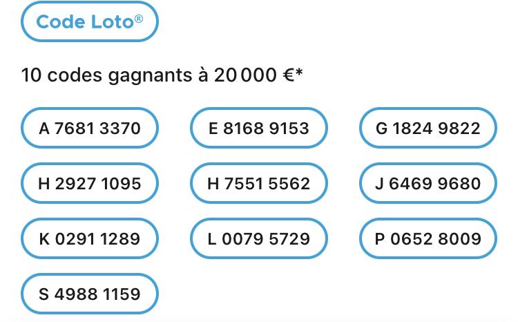 Codes loto Gagnant 28 juin 2021