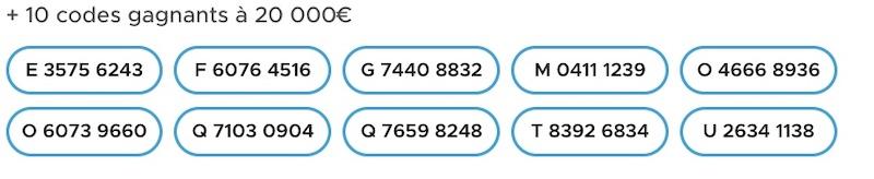 codes loto gagnant 26 juin 2021