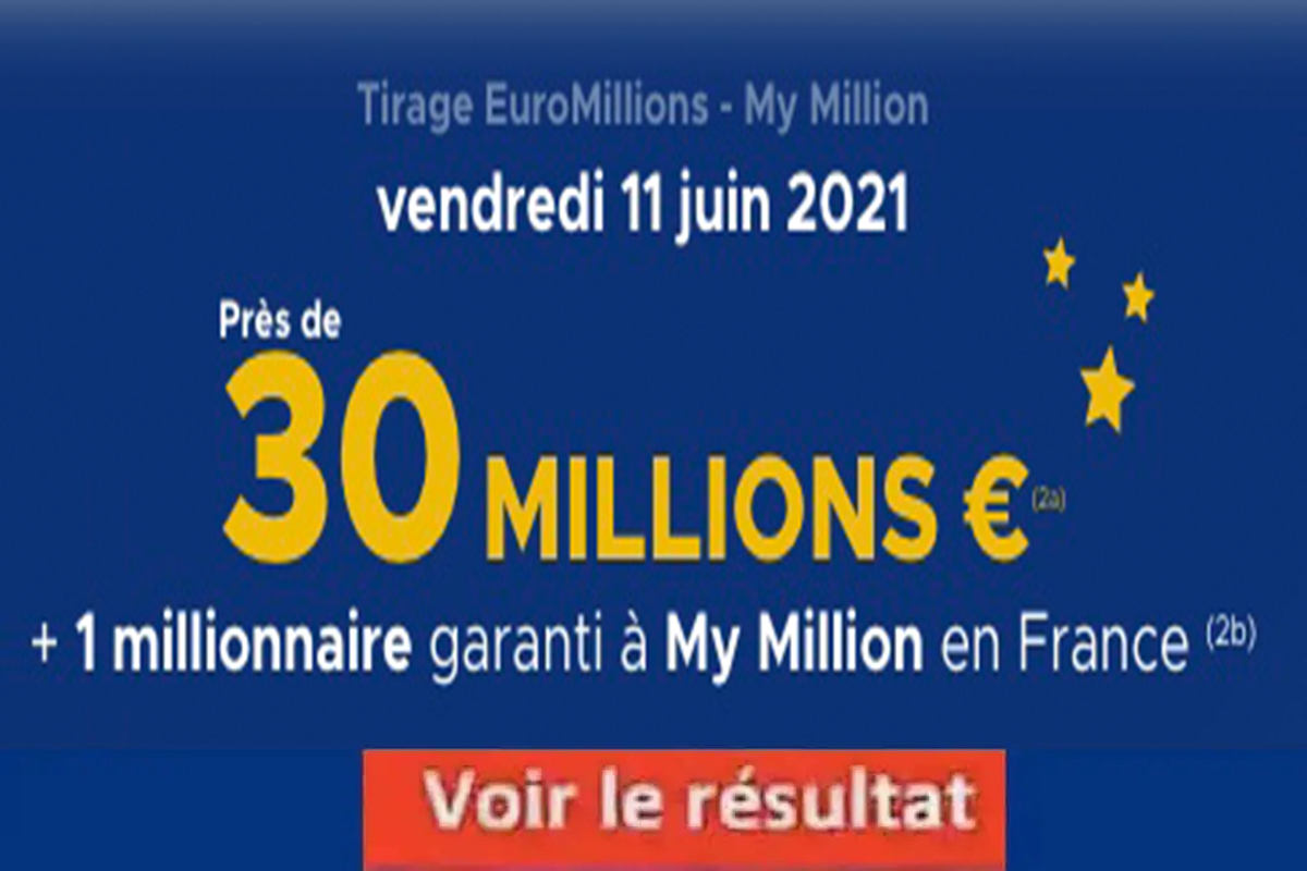 Resultat Euromillion 11 juin 2021